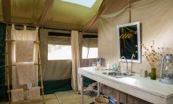 Bathroom in tent at Kuro Tarangire