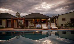 Swimming pool at Acacia Farm Lodge