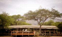Mess Tent Exterior at Dunia Camp