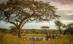 Four Seasons Serengeti Bush dinner setting