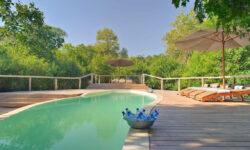 Swimming pool at Lake Manyara Tree Lodge