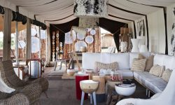 Lounge at Singita Mara River Tented Camp