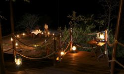 Private Honeymoon dinner at Serengeti Migration Camp