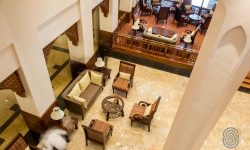 Aerial view of the lobby at Dar es Salaam Serena Hotel
