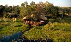 Botswana; Aerial of Baines Camp
