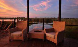 Africa; Botswana; Sanctuary Baines' Camp; Deck Lounge