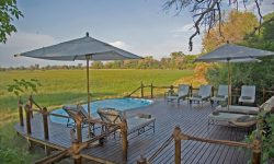 Botswana; Okavango Delta; Stanley's Camp - Pool and deck with view
