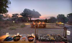 Dining at Roho ya Selous