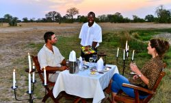 Bush dining - Hwange national park