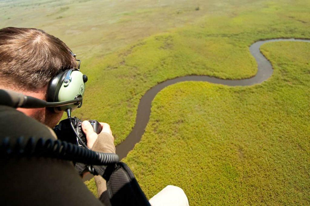 aeriel photography okavango delta