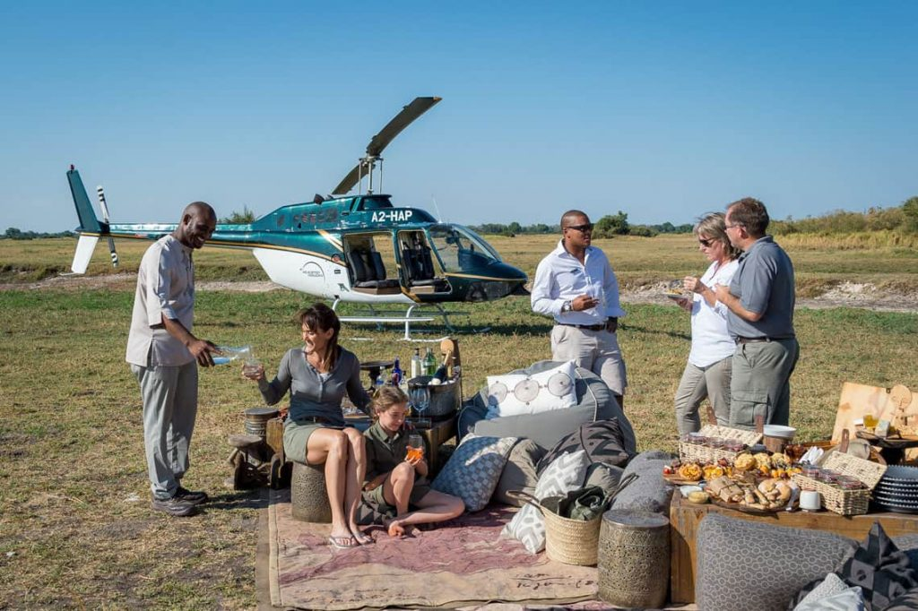 exclusive helicopter safari