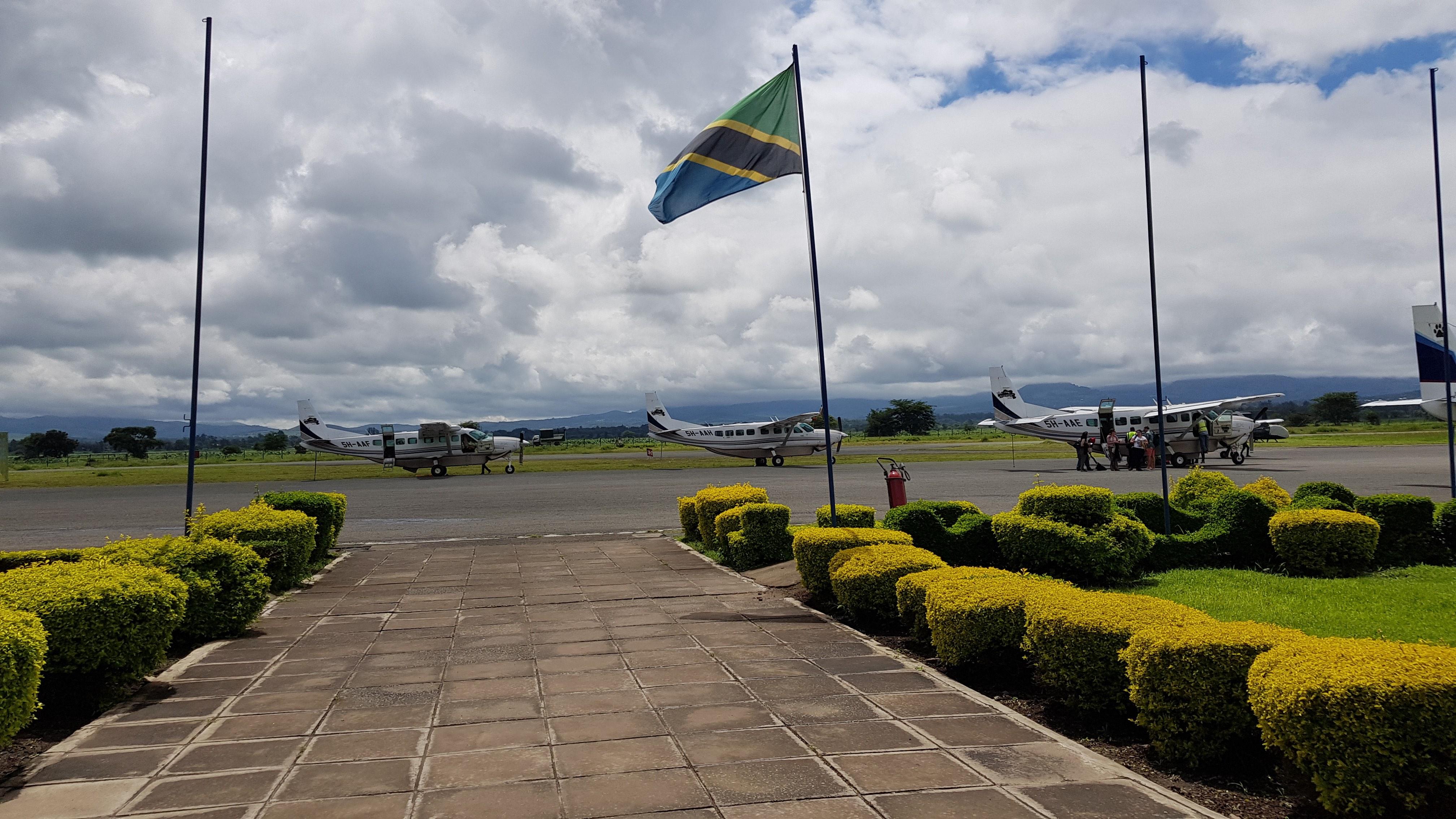 Tanzania Flag - Arusha Airport