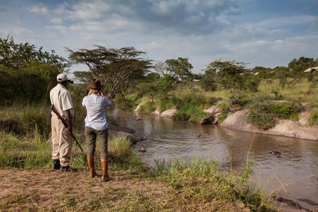 Serengeti Migration Camp - activities - guided bush walk along the Grumeti River